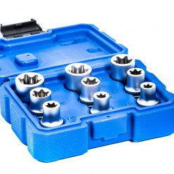 "9pc 1/2"" Dr Star E Torx..."